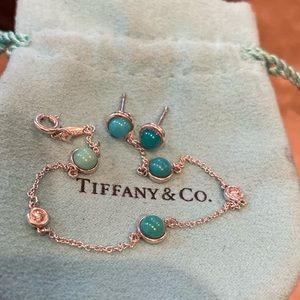 Tiffany diamond ny the yard turquoise bracelet